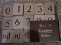 Recollections Rubber Stamp Set 15 Pieces Wood Block Numbers