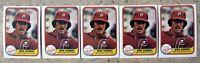 1981 Fleer #640 Mike Schmidt Philadelphia Phillies 5ct Card Lot