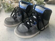 OSIRIS SKATEBOARD SNEAKERS SHOES Size 4 Black, Grey And Blue High Tops