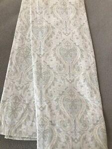 Raymond Waites Pair King Pillowcases ~ Paisley ~ Grey ~ 100% Cotton Sateen