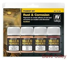 Av Vallejo Pigments Set De rouille et la corrosion 73194 GRATUIT UK ENVOI