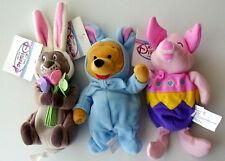 Disney~Easter Bunny Pooh & Gopher & Egg Piglet BB Set