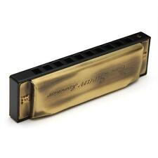 Swan Harmonica 10 Holes Key of C 20 Tone Diatonic Blues Harp Harmonica Bronze
