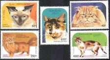 Laos 1995 Domestic Cats/Pets/Animals/Nature 5v set (b8104)