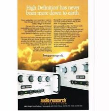 1989 Audio Research SP14, SP9 Preamplifier Stereo Hi-Fi Vtg Print Ad