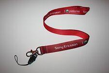 Sony Ericsson llavero nuevo Lanyard rojo