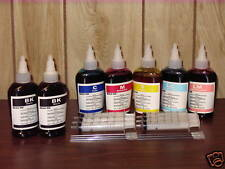 Non-OEM 6 colors 100ml x 7 bottles refill ink for Epson printer plus 6 syringes