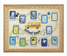 SCHOOL DAYS WOOD PHOTO FRAME FOR GRADES 1 THRU 12
