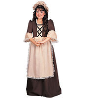 Colonial Girl Halloween Costume Size Small (4-6) New !