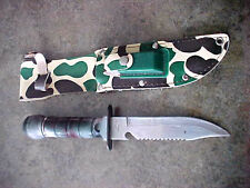 RARE 1 on ebay camo case Taiwan survival knife compass sharpening stone too