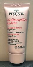 NUXE Melting Cleansing GEL Face Wash With Rose Petals 15ml Travel Size