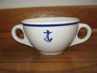 VINTAGE U.S. NAVY Double Handle Coffee Cup Anchor USN