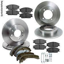 4 Bremsscheiben + Beläge vorne & hinten inkl Handbremse OPEL Vectra B / 5-Loch
