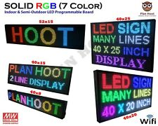 Multiple Dimesnions Led Rgb 7 Color Wifi Indoor Semi Outdoor Scrolling Sign