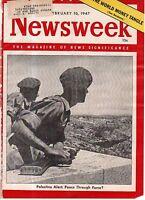1947 Newsweek February 10-Walton IN train crash; Egypt wants the Sudan;Palestine