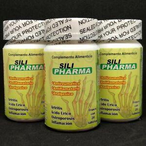 SILI Pharma 3 Bottles 60 Tablets Anti-Rheumatic Anti-Inflammatory