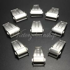 16-24mm Stainless Steel Push Button Deployment Clasp Buckle For Watch Band Strap
