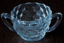 Gently Used Open Sugar Bowl - Jeannette  Cube Pattern in Clear  Depression Glass