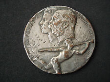 Franz Joseph, Alfonso XIII - Budapest Oktober medal, 1908, Hungary, Spain - rare