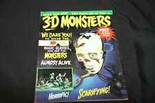 1964 3-D MONSTERS MAGAZINE #1 WITH 3-D GLASSES ATTACHED! VF- TO VF!!
