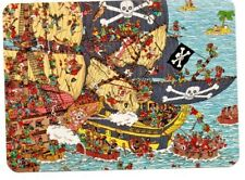 "Where's Wally? novelty postcard. ""Pirate Panorama"""