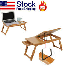 New Folding Dormitory Bed Lap Desk Bamboo Laptop Breakfast Tray Table Stand US