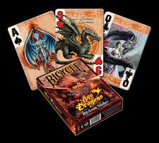 POKER CARTE DA GIOCO CON AQUILONE - Age of Dragons - Anne Stokes Fantasy di