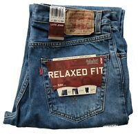 Levis 550 Men's Relaxed Fit Classic Tapered Leg Stonewash Blue Jeans #4891
