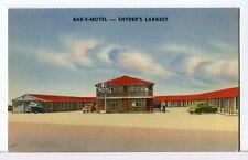 The BAR-V-MOTEL, Synder, Texas' Largest 1930 - 1945 Roadside America Postcard