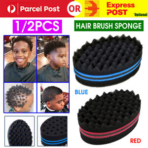 1/2Wave Barber Hair Brush Sponge for Dreads Afro Locs Twist Curl Coil Magic Tool