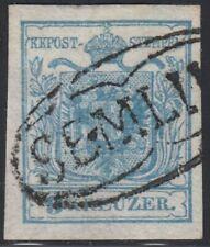 Österreich 1850 Nr. 5 X Type I Ovalstempel SEMLIN Befund BPP