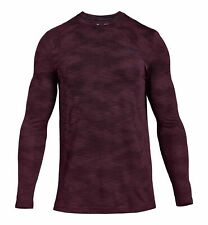 $155 Under Armour Men's Red Long-Sleeve Tee Performance Crew-Neck T-Shirt Size M