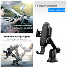 Qi Wireless Suction Car Charger&Holder Mount For iPhone X 8 Samsung Note 9 S9