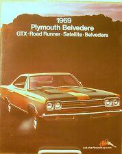 NOS Mopar 1969 Plymouth Belvedere GTX Road Runner Sport Satellite Sales Brochure