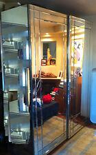 armadio in specchi a 2 ante 220x180x60