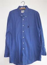 Walt Disney World Cast Member Blue Button Front Shirt Embroidered Mickey Mouse
