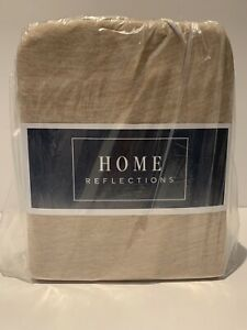 Home Reflections Heathered Striped Jersey Knit Sheet Set- Brand New Tan Twin XL