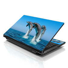 "17.3"" 18"" 19"" Laptop Notebook Skin Sticker Protective Decal Dolphins L-A27"