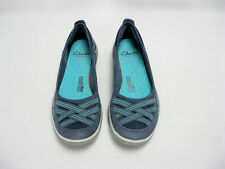 Clarks Privo Blue Slip On Cushion Loafers Walking Flats Shoes Womens Size 5.5 M