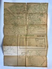 Antique Crossville Bus Route Map of North Wales & North West England