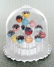 NEW NORDIC WARE CAKE POPS STAND DOME COVER BAKING PAN PINK HEART RED BLUE YELLOW