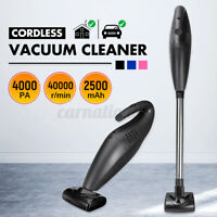 10Pcs/Sets 4000PA Cordless Car Vacuum Cleaner w/ Extension Tube Wet Dry Car Home