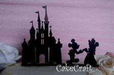 Acrylic Disney castle Mickey & Minnie birthday,wedding cake topper decorations