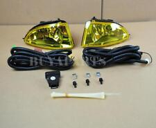 For 2004-2005 Honda Civic 2/4 DR Yellow Bumper Driving Fog Lights Pair w/Lamp