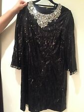 NWT DOLCE GABBANA Black Crystal and sequin-embellished dress Runway Size 44 8