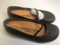 Birkenstock Footprints Brown Leather Sandals Mary Janes Women's 36/230 Flats