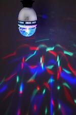 2 x Intempo tournant Boule Disco Ampoule 3w LED Coloré Fête Maison E27 Bouchon