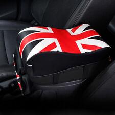 Car Uk Flag Armrest Box Mats Console Pad Liner Cushion Cover PU Leather