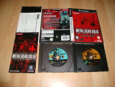 METAL GEAR THE TWIN SNAKES DE KONAMI PARA LA NINTENDO GAME CUBE USADO COMPLETO