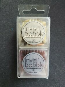 6 Pack Invisibobble Original QTY 3 Time To Shine QTY 3 Pretzel Brown NEW IN BOX